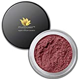 mudFlower Cosmetics Organic Mineral Loose Powder Satin Eye Shadow, Raspberry, 2.8 Gram