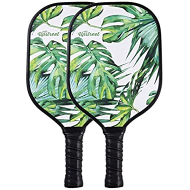 Upstreet Graphite Pickleball Paddle Set - Polypro Honeycomb Composite Core - Paddles Include Racket Cover