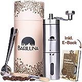 BARILUNA® Kaffeemühle manuell aus Edelstahl, Handkaffeemühle mit präzisem Keramikmahlwerk -...