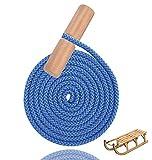 TK Gruppe Timo Klingler Schlittenseil blau Seil Zugseil 1,50 mtr - 150 cm Schlaufe Meter Zugleine für Schlitten & Bonb & Rodeln im Winter, Kinder (blau)