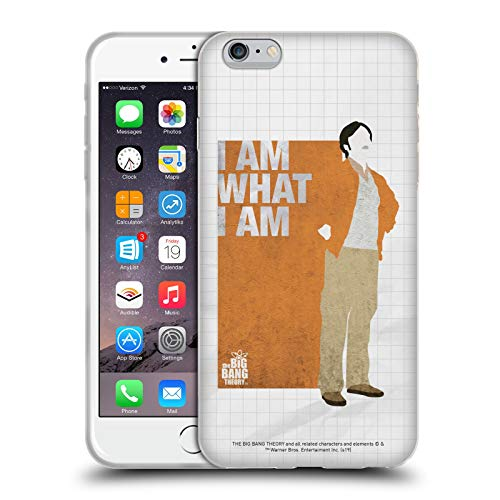 Head Case Designs Licenza Ufficiale The Big Bang Theory Raj Supereroe Cover in Morbido Gel Compatibile con Apple iPhone 6 Plus/iPhone 6s Plus