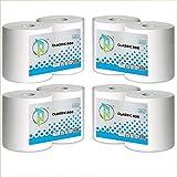 Virsus kit 2 bobine di carta rotoloni industriali asciugamani pura cellulosa bobina asciugatutto varie quantità (4)