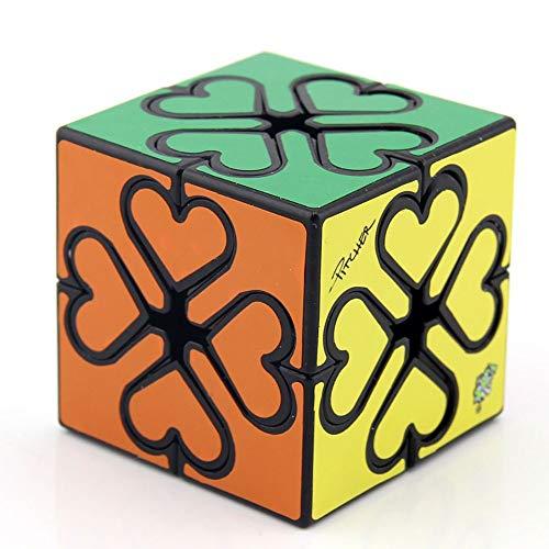Khosd Clásico Cubo De Engranajes La Velocidad Pegatina Cubo Mágico Irregulares (Negro), Gear Cube 3D Gear Cubo Shift Velocidad Puzzle Cubo Magico