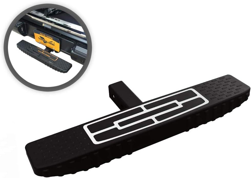 VANGUARD Black Powdercoat Hitch 100% quality warranty! Step Uni Compatible Max 64% OFF with Board