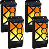True Face Solar Flame LED Wall Fence Lights Door...