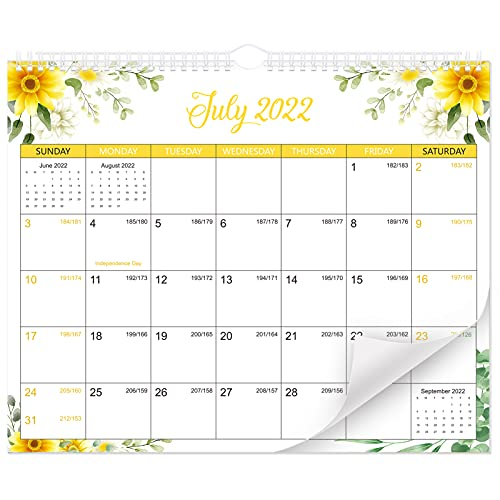 TomaiBaby Calendario para Colgar en La Pared 2022-2023 Calendario con Patrón Floral de 24 Meses Organizador Planificador Diario Planificador Planificador 2022- Dec. 2023 para Decoraciones