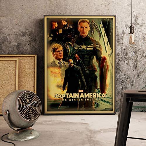Der Kapitän Classic Super Hero Filme Poster Wohnkultur Wandkunst Bild Bild Kinderzimmer Kinderzimmer Malerei Leinwand Malerei 30 * 40cm S.