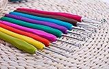 RKPM HOMES® Crochet Hooks by RKPM HOMES - 9pcs Crochet Hook Set,Ergonomic Grip,Mom