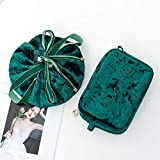 Weixin Bolsa de cosméticos Perezosa Bolsa de Almacenamiento de cosméticos pequeña portátil de Gran Capacidad para Mujer Bolsa de cosméticos de Viaje roja súper Cortavientos de Viento