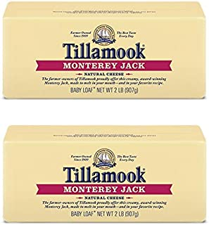 Pack of 2 Tillamook Monterey Jack Cheese 2 lb Loaves