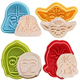 BETOY Star Wars Ausstechformen Plunger 4er-Set - zufällige Farben -Ausstechformen Plätzchenformen Backformen Keks Cookie Cutters Tortendeko