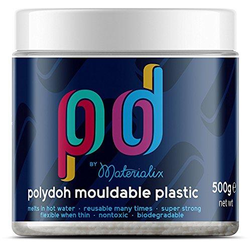 Polydoh - Plástico moldeable, bote de 500g (también conocido como polimorph, plastimake o instamorph)