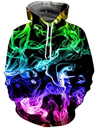 Fanient Teens Männer Frauen Hoodie Bunte 3D Print Langarm Pullover Sweatshirts