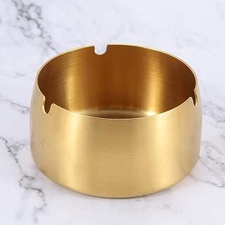Ashtray, Ashtray Ashtray Stainless Steel Ashtray Bar Ashtray Bar Ashtray Bar Ashtray @ Gold_Large,Size:Small,Colour:Silver (Color : Gold, Size : Small)