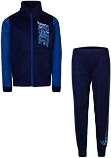 Toddler Boys Cool Grey Track Suit Athletic Jacket & Pants Set