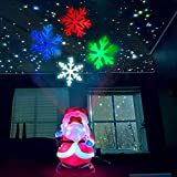 Yocuby Christmas Night Light Projector Decorations with RGB Color Changing LED Decorative Light,Christmas Tree Hanging Decoration Snowflake Projection Lamp, LED Light Projector for Party(santa)