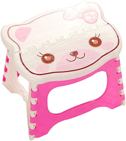 Loprt Folding Step Stool For Kids And Adult For Bedside And Kitchen And Bathroom Use Holds Up To 300 Lbs Pink