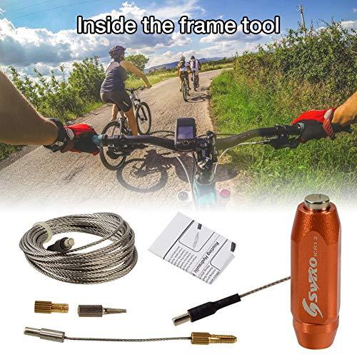 wisedwell Kabelführungs Werkzeug im Fahrrad Rahmen Brems Schlauch Flexibler Magnet Abnehmbare Kappe mit Hauptmagnet Hydraulik Schlauchan Schluss