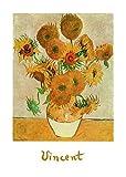 Kunstdruck 50x70 SUNFLOWERS - Van Gogh - Sonnenblumen