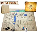 The Original Battle Grid Game Board - 23x27 - Dry Erase Square & Hex RPG Miniatures Mat - Tabletop Role-Playing Dice Map - Portable Reusable Dragons Gaming Dungeon