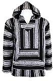 Canyon Creek Striped Woven Jacket Coat Hoodie (X-Large, Black)