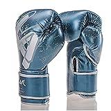 Guantes de Boxeo,Kickboxing Gloves para Adulto Hechos de Cuero Hombres Mujeres Cuero Acolchado Saco de Boxeo sin Dedos Guantes,Ideales para Muay Thai Saco Entrenamiento Sparring,8oz,10oz,12oz,14oz
