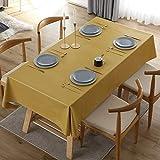 Mantel, 2021 Color SóLido Impermeable, Resistente Al Aceite Y Mantel De PVC Escaldado, Mantel Rectangular para Mesa De Centro Y Mesa De Comedor En Casa