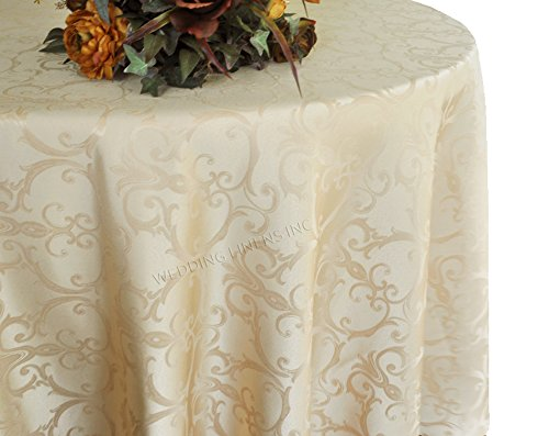 Wedding Linens Inc.. 90 Inch Round Versailles Chopin Jacquard Damask Polyester Tablecloths Table Cover  sc 1 st  Amazon.com & Damask Wedding Round Table Linens: Amazon.com