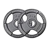 RitFit 15 LB Grip Plate for Barbell, 2-inch Iron Olympic Weight Plate (Pair)…