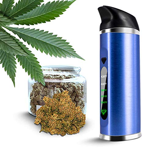 Vaporizer-Tragbarer Verdampfer Kräuter mit Ceramic Chamber and OLED Display, No Nicotine No liquid (Blau)