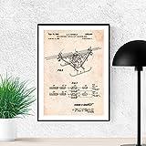 Nacnic Poster Brevetto Quadcopter Elicottero Drone. Foglio da incorniciare. Poster Disegni, brevetti, invenzioni Famosi Disegni. Decorazione Domestica Dimensioni (A3)