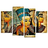 4 Paneles Faraón Egipcio Imagen Modular Arte de La Pared Decoración para el Hogar Pósteres Sala de estar Hd Impreso Pintura Moderna Sobre Lienzo Sin Marco