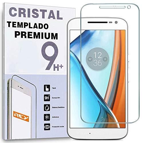 REY Protector de Pantalla para Motorola Moto G4, Cristal Vidrio Templado Premium