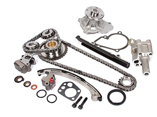 Evergreen TK3022WOPT Compatible With Nissan Frontier Xterra KA24DE DOHC Timing Chain Kit w/Water Pump & Oil Pump