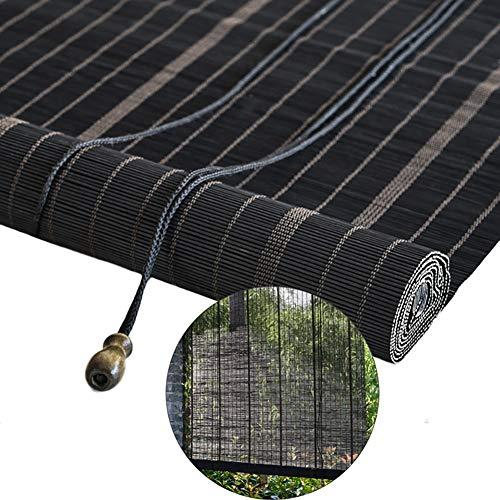 Lqqdp Estores Enrollables Cortinas Enrollables de Interior Negras, Cortina Enrollable Ovalada de Protección UV para Pérgola de Porche, 80/100/120/140 cm de Ancho (Size : 140×140cm/55×55.1in)