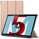 ebestStar - kompatibel mit Huawei MediaPad M5 10.8 Hülle Tablet 10.8 Schlank Smart Cover [Ultra Dünn] Schutzhülle Etui, Schutz Hülle Ständer, Hülle Stand, Gold [M5 10.8: 258.7 x 171.8 x 7.3mm, 10.8'']