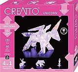 CREATTO Einhorn 3D-Leuchtfiguren entwerfen, 3D-Puzzle-Set für Einhorn, Ballerina, Hase oder Eisbär, gestalte kreative Zimmer-Deko, 140 Steckteile, 80-tlg. LED-Lichterkette, für Kinder und Erwachsene