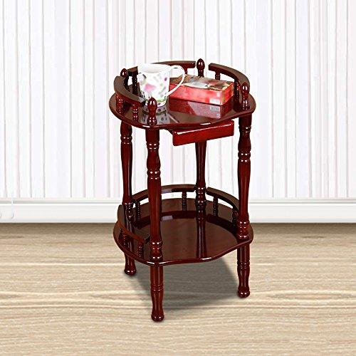 Porte-magazines et porte-journaux Téléphone en bois massif en style chinois Plusieurs cadres Magazine Etagères Bookstand Chêne Salon Petite table basse Accueil Simple (Couleur : A)