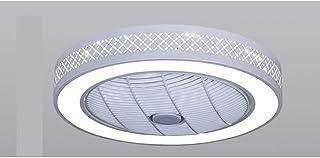Nologo Dormitorio Invisible lámpara de Techo llevada lámpara de salón Comedor del Modelo Moderno Minimalista casa Rejilla Ventilador de la lámpara