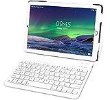 Tablet 10 Pollici con Wifi Offerte Tablet PC LTE Dual SIM/WiFi tablet Android 8.1 con 3GB di RAM e 32GB ROM-(Sblocco Facciale,Supporta Netflix)-Argento