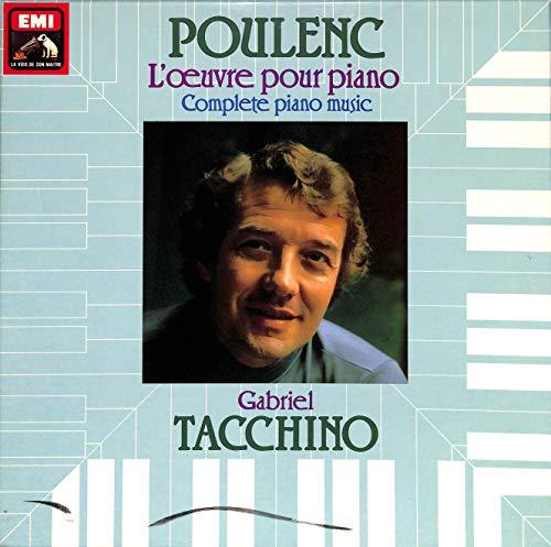 Poulenc / Gabriel Tacchino: L'œuvre pour piano, Complete piano music - 2909013 / PM 652 - Box LP