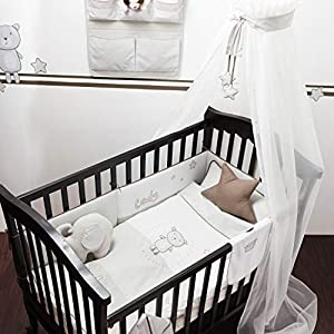 Belily World - Juego de ropa de cama para bebé (5 piezas), diseño de ositos