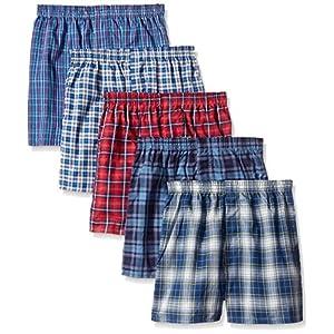 Fruit of the Loom niños 'Woven Boxer, expuestas y cubiertos cintura (Pack de 5) – Multi –
