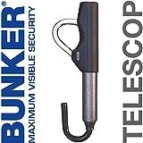 Bunker BT29/B Canne Antivol Voiture Volant Télescopique Plus Facile à Garder Haute Gamme Européenne, Gris