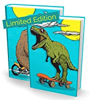 Book Soxストレッチブックカバー:9インチ x 11インチまでのほとんどのハードカバー教科書に対応。 接着剤不使用、ナイロン生地のスクールブックプロテクター。 装着簡単。 洗濯可能で再利用可能なジャケット。 (恐竜/熊)