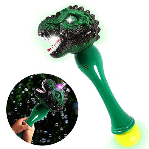 Toyssa Bolle di Sapone Dinosauro Pistola di Sapone Bolle Macchina Automatico Sparabolle Bolle di Sapone con Luce Musica...