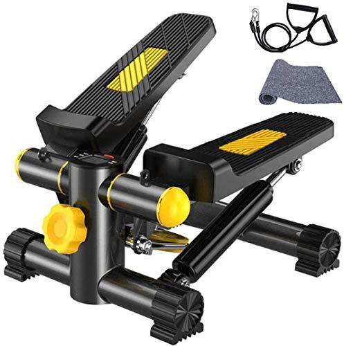 ステッパー ステップ台 踏み台昇降 トレーニングチューブ付き ウォーキング 負荷調整 液晶モニター LCD 低騒音 有酸素運動 室内運動 軽量 コンパクト ダイエット カロリー エクササイズ Vinteky