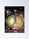 AZSTEEL Eiffel Tower Bastille Day 14 Juillet by Maru Poster