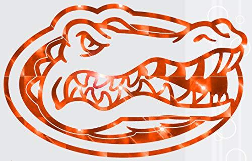 Florida Gators Orange Mirror Vinyl Gator Head Logo 20' Vinyl Decal Car Truck Window UF Sticker