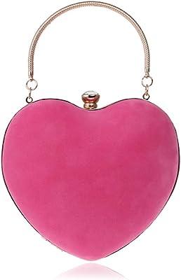 NICOLE & DORIS Abendtasche Damen Abend Clutch Umhängetasche für Hochzeit sketten Tasche Handtasche für Party Rose
